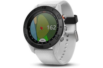 (Watch, white silicone band) - Garmin Approach S60, Premium GPS Golf Watch with Touchscreen Display and Full Colour CourseView Mapping, White