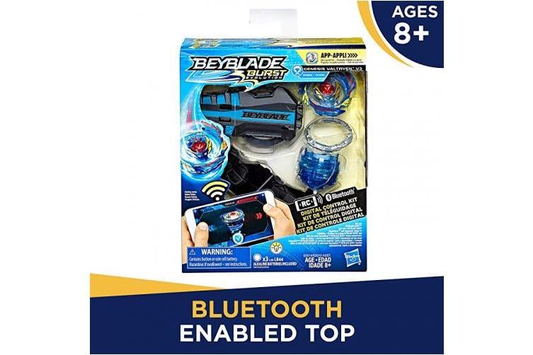 BEYBLADE Burst Evolution Digital Control Kit Genesis Valtryek V3 Remote Control Bluetooth Enabled Battling Top