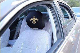 Fast & Furious 2pcs Printed Logo NFL New Orleans Saints Car Headrest Cover