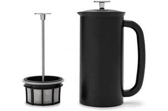 (530ml, Matte Black) - ESPRO P7 Double Walled Stainless Steel Vacuum Insulated Coffee French Press, 530ml, Matte Black