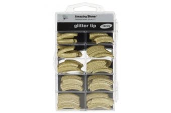 Amazing Shine 100 Glitter Nail Tips - Gold (216)