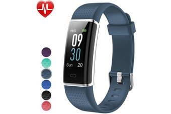 (Grey Blue) - Willful Fitness Tracker IP68 Swimming Waterproof, Heart Rate Monitor Fitness Watch Sport Digital Watch with Colour Screen Step Counter Sleep Tracker Call SMS SNS Notice, Smart Watch for Men Women Kids