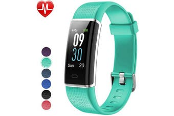 (Green) - Willful Fitness Tracker IP68 Swimming Waterproof, Heart Rate Monitor Fitness Watch Sport Digital Watch with Colour Screen Step Counter Sleep Tracker Call SMS SNS Notice, Smart Watch for Men Women Kids