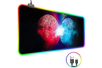 (Red and Blue) - RGB Mouse Pad, Zpose Led Mouse Pad, Gaming Mouse Pad, Large Gaming Mouse Pad, Gaming Mousepad, Large Mouse Pad Gaming, Mouse Pad Gaming, 14 Lighting Modes, RGB Mouse Pad with USB Cable, 31.5 x 11.8