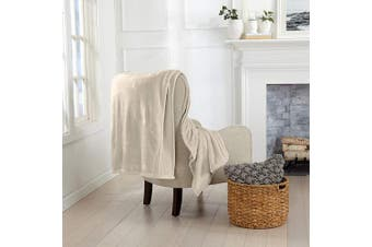 (130cm  x 180cm  Throw, Taupe) - Great Bay Home Luxury Velvet Ultra Plush Solid All-Seasons Soft Fleece Oversized Throw. Lightweight, Cosy and Warm. Avianna Collection (Oversized Throw 130cm x 180cm , Taupe)