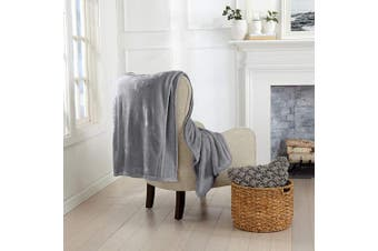 (130cm  x 180cm  Throw, Frost Grey) - Luxury Velvet Ultra Plush Solid All-Seasons Soft Fleece Oversized Throw. Lightweight, Cosy and Warm. Avianna Collection (Oversized Throw 130cm x 180cm , Frost Grey)
