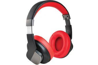 Promate TRUEBEATS.RED  Active Noise Cancellation   Foldable Over-Ear Wireless Headphones. Built-in