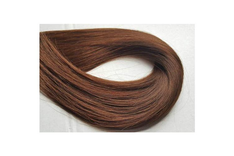 """(Chocolate Brown) - TRESSMATCH 20""""-60cm Remy Human Hair Clip in Extensions Thick to Ends Chocolate Brown (Colour #4) 10 Pieces(pcs) Full Head Luxury Set [Set Weight: about 160ml/160grams] …"""