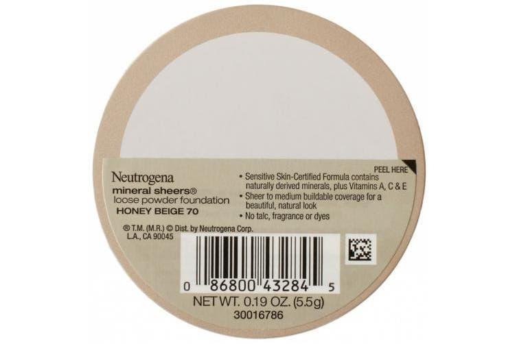 (honeybeige60) - Neutrogena Mineral Sheers Loose Powder Foundation with SPF 20, Honey Beige 70