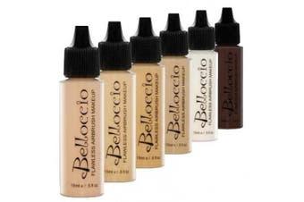 Belloccio Medium Colour Shades Airbrush Makeup Foundation Set