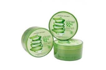 KOREAN COSMETICS, NATURE REPUBLIC, Soothing and Moisturising Aloe Vera 92% Soothing Gel 300ml * 3ea (skin-soothing, moist, Multi, low irritation) [001KR]