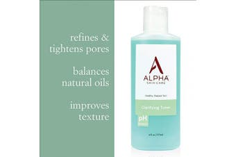 Alpha Skin Care - Clarifying Toner, Gentle Cleanser for Normal to Oily Skin| Fragrance-Free and Paraben-Free| 180ml (packaging may vary)