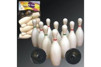 Minituare Bowling Set with 15cm Pins and Ball