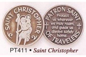 Cathedral Art Saint Christopher Pewter Pocket Token - PT411