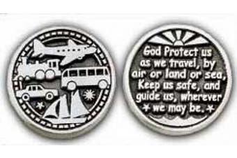 Cathedral Art Traveller's Prayer Pewter Pocket Token - PT139