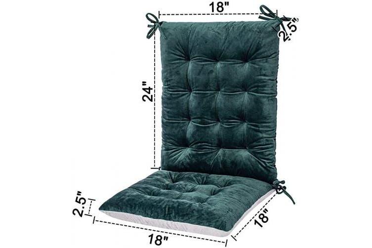 Flannel 1 Dark Green Rocking Chair Cushions And Pads Adirondack Chair Cushion Back And Seat Cushion