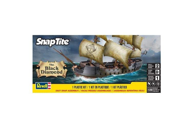 (1, Black) - Revell The Black Diamond Pirate Ship Snap Tite Plastic Model Kit
