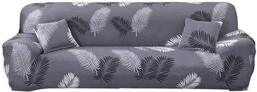 (4 Seater Long Sofa (90-300cm ), Black-feather) - MIFXIN Stretch Sofa Cover Sofa Slipcover Elastic Polyester Spandex Sofa Couch Slipcover Furniture Protector for Kids Dogs Cats Pets Home Decor (Black-Feather, 4 Seater Long Sofa) Size: 4 Seater Long Sofa (90-300cm )Colour: Black-feather Sofa Slipcover Size:  Sofa length between 35 to 55 Inches (90cm-140cm) choice Single-seater sofa cover  Sofa length between 55 to 74 Inches (140cm-185cm) choice Two-seater sofa cover  Sofa length between 74 to 90 Inches (185cm-230cm) choice Three-seater sofa cover  Sofa length between 90 to 118 Inches (230cm-300cm) choice Four-seater sofa cover