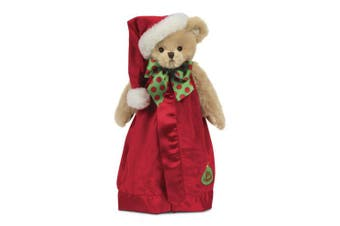 (red) - Bearington Baby Bear Hugs Snuggler, Yellow Teddy Bear Plush Security Blanket, Lovey 38cm
