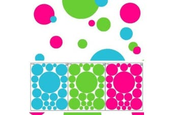 Wall Dots Decals- Tropical Coloured Polka Dot Wall Stickers