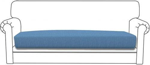 (X Large, Light Blue) - Easy-Going Stretch Cushion Cover Sofa Cushion Furniture Protector Sofa Seat Sofa slipcover Sofa Cover Soft Flexibility with Elastic Bottom(Oversized Sofa Cushion,Light Blue) Size: X LargeColour: Light Blue