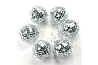 Cosmos ® 6 pcs 4.6cm Disco Ball Mirror Party Christmas Xmas Tree Ornament Decoration with Cosmos Fastening Strap