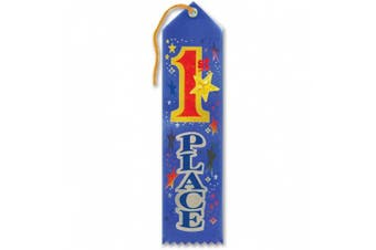 1st Place Jewelled Ribbon With Large Stars 5.1cm x 20cm Party Accessory