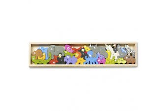 "(Standard Size (22"")) - BeginAgain - Animal Parade A to Z Puzzle and Playset, Make Learning Fun and Help Spark Your Child's Imagination, Educational Wooden Alphabet Puzzle (For Kids 2 and Up)"