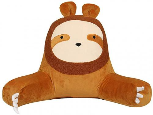 (Yellow Sloth) - Yoweenton Lovely Sloth Back Pillows for Sitting in Bed Kids and Adults | Reading Pillows | Sit up Pillow for Reading/Relaxing/Watching TV Colour: Yellow Sloth Yoweenton Lovely Sloth Back Pillows for Sitting in Bed Kids and Adults | Reading Pillows | Sit up Pillow for Reading/Relaxing/Watching TV
