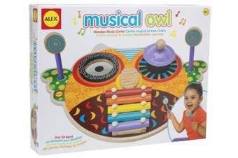 Alex Musical Owl Wooden Music Centre