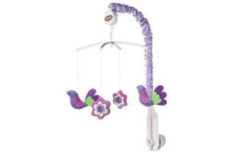 Bacati - Botanical Sanctuary Multicolor Purple Sanctuary Musical Mobile
