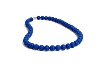 Chewbeads Silicone Rubber Necklace in Cobalt (Blue)