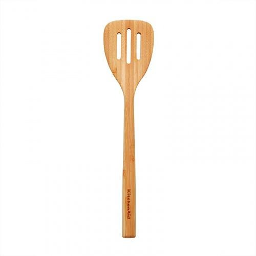(Bamboo Slotted Turner) - KitchenAid Universal Bamboo Tools, 30cm Style: Bamboo Slotted Turner KitchenAid Universal Bamboo Slotted Turner, 30cm , KitchenAid Universal Bamboo Slotted Turner, 30cm