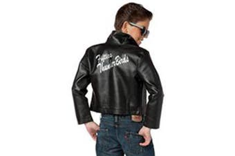 (X-Large) - Charades Child's Fifties Thunder Bird Costume Jacket, Black, X-Large