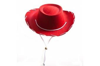 (Red) - Children's Red Felt Cowboy Hat by Century Novelty