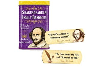 (1 Tin) - Accoutrements Shakespearean Insult Bandages by Accoutrements