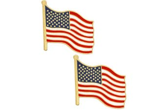 (1 Piece) - PinMart . American Flag Patriotic Enamel Lapel Pin