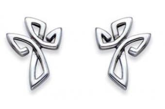 Stainless Steel Cross Stud Earrings