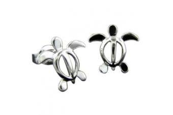 925 Silver Turtle Stud Earrings Hawaiian Jewellery