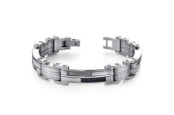 Peora Sophisticated & Stylish Heavy Duty Stainless Steel Mens Bracelet