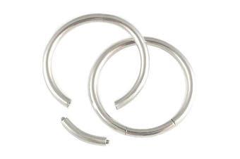 16g 16 gauge 1/2 Inch 12mm Steel eyebrow lip tragus ear plug earring ring bcr captive bead bar Segment Piercing 2Pcs ACMA