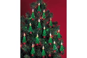 """(Mini Trees 2.25"""" Makes 24) - Holiday Beaded Ornament Kit"""