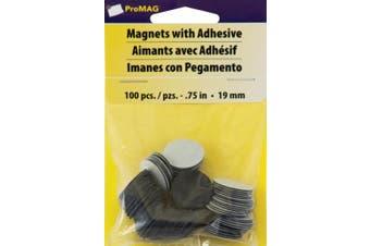 ProMag Round Magnets, 1.9cm , 100/pkg