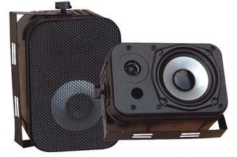 (400 Watts Peak, 13cm , Black) - Dual Waterproof Outdoor Speaker System - 13cm Pair of Weatherproof Wall / Ceiling Mounted Speakers w/ Heavy Duty Grill, Universal Mount - For Use in the Pool, Patio, Indoor - Pyle PDWR40B (Black)