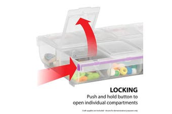 (14 Compartment, 3XL) - Craft Mates Lockables 14 Triple Extra Large (3 XL) Compartment Locking Organiser (extra large storage)