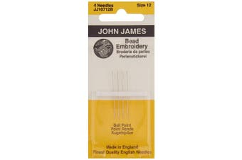(Size 12 4/Pkg) - Colonial Needle 73484 Bead Embroidery Hand Needles-Size 12 4-Pkg