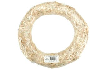 (25cm ) - Flora Craft SW10C 10 Straw Wreath Shrinkwrapped