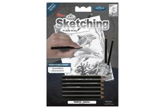 (Dolphins) - Sketching Made Easy Kit 13cm x 18cm