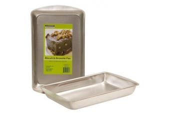 (1, Grey) - Heavy Duty Toaster Oven Size Steel Biscuit & Brownie Pan by Cooking Concepts