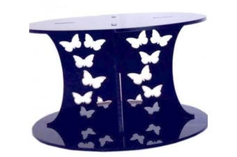 Butterflies Black Round Acrylic Pillars Wedding & Party Cake Separators / Stands AME SIZE TOP AND BOTTOM